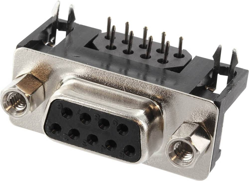 D-SUB vtične letve, število polov: 9 s spajkalnimi pini econ connect BU7F9GA 1 kos