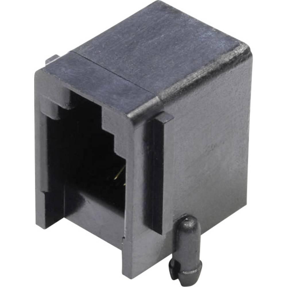Modularna-vgradna vtičnica, vgradna, horizontalna, polov: 4 MJUSE44GAB črne barve econ connect MJUSE44GAB 1 kos