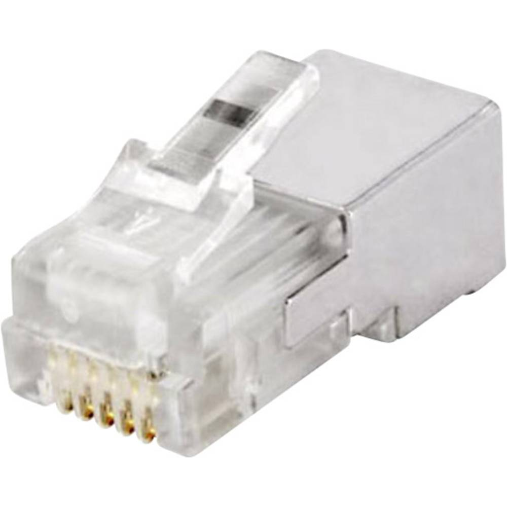 RJ12 Stik, lige econ connect MPL6/6RG Metal 1 stk