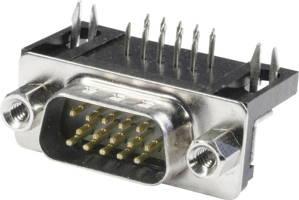 D-SUB pinska letev, število polov: 15 s spajkalnimi pini econ connect ST15HDW 1 kos