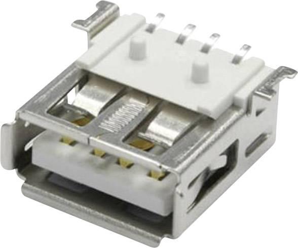 Buchse horizontal USB A auf PCB SMT  schiebbare Ausführung USBA-GO3.0//SMD USB un