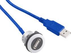 USB-uttag typ A till USB-kontakt typ A med 60 cm kabel TRU COMPONENTS USB-12-BK USB 3.0 Svart 1 st