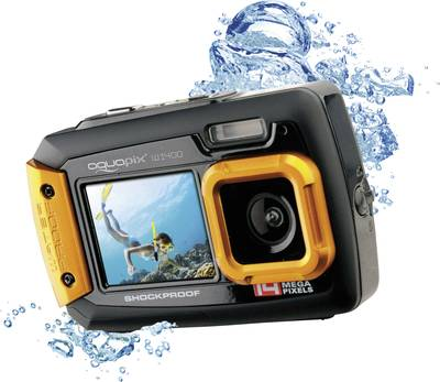 Image of Digital camera Easypix W-1400 14 MPix Black/orange Dustproof, Underwater camera, Front display