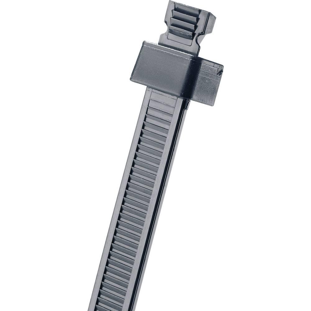 Kabelske vezice 172 mm črne barve, za eno lukenjsko pritrditev Panduit SST2S-C0 1 kos