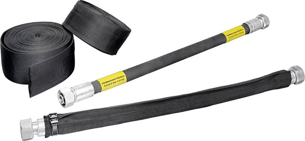 Crijevo za zaštitu od puknuća HEGWS za zaštitu hidrauličkih vodova promjer za omotavanje: 28 mm HEGWS45-PA-BK;HellermannTyton sa
