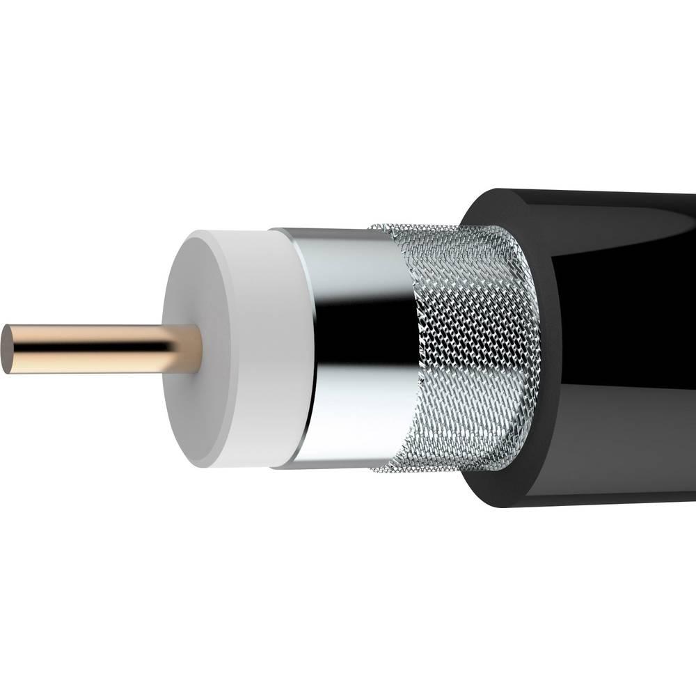 Koaksjialni kabel vanjski promjer: 10.4 mm 75 crne boje Axing SKB 11-03 metarski
