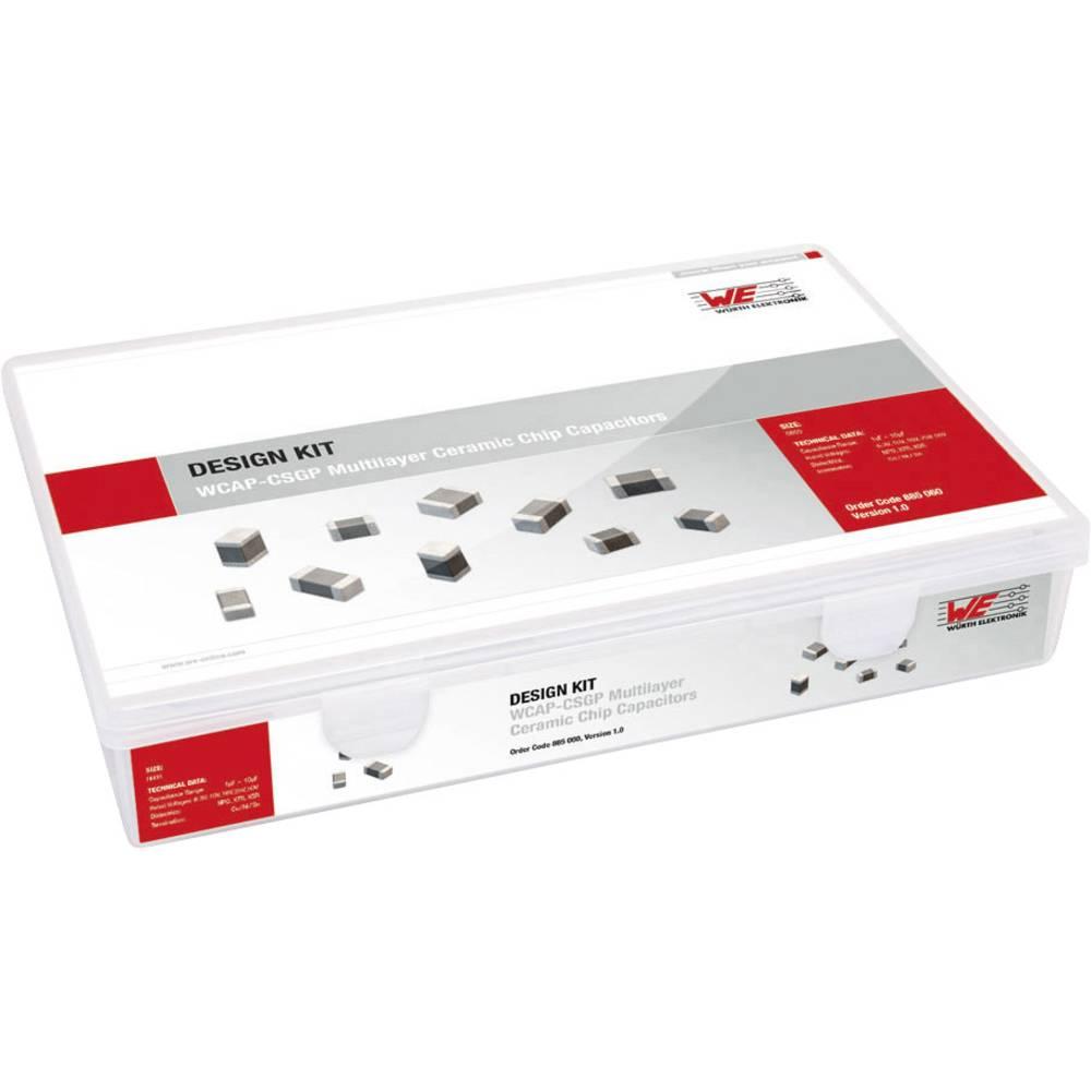 Keramički kondenzator Sortiment SMD 0603 6.3 V, 10 V, 16 V, 25 V, 50 V Würth Elektronik Kit 885060 3600 kom.