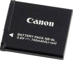 Image of Camera battery Canon replaces original battery NB-8L 3.6 V 740 m