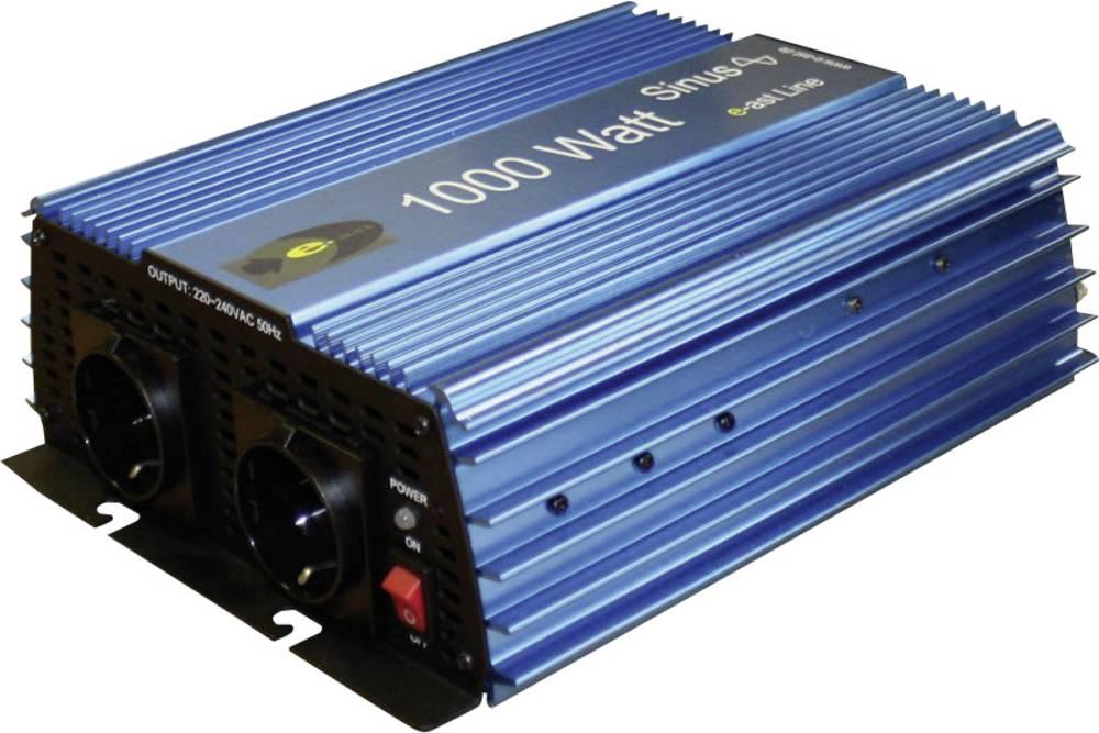 Razsmernik e-ast ES-1000-12 1000 W 12 V/DC 11 - 15 V/DC vijačne objemke, varnostna vtičnica