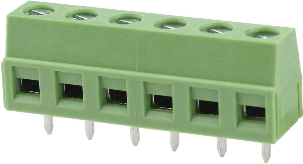 Skrueklemmeblok Degson DG127-5.08-03P-14-00AH 2.08 mm² Poltal 3 Grøn 1 stk