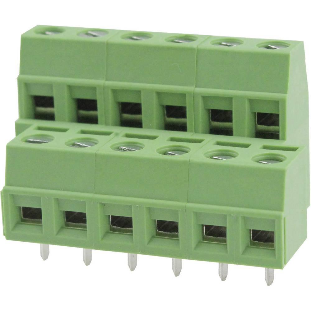 Skrueklemmeblok Degson DG127A-5.08-04P-14-00AH 2.08 mm² Poltal 4 Grøn 1 stk