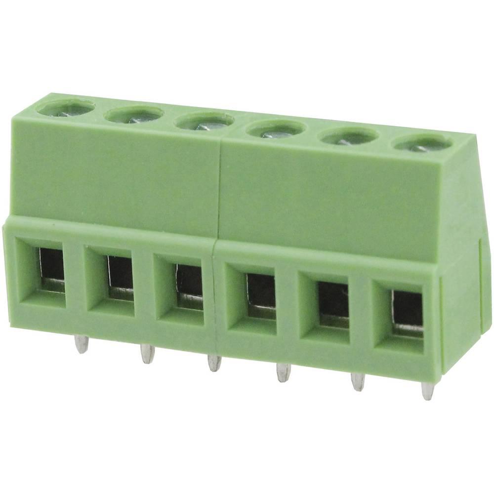 Skrueklemmeblok Degson DG128-5.0-02P-14-00AH 3.31 mm² Poltal 2 Grøn 1 stk