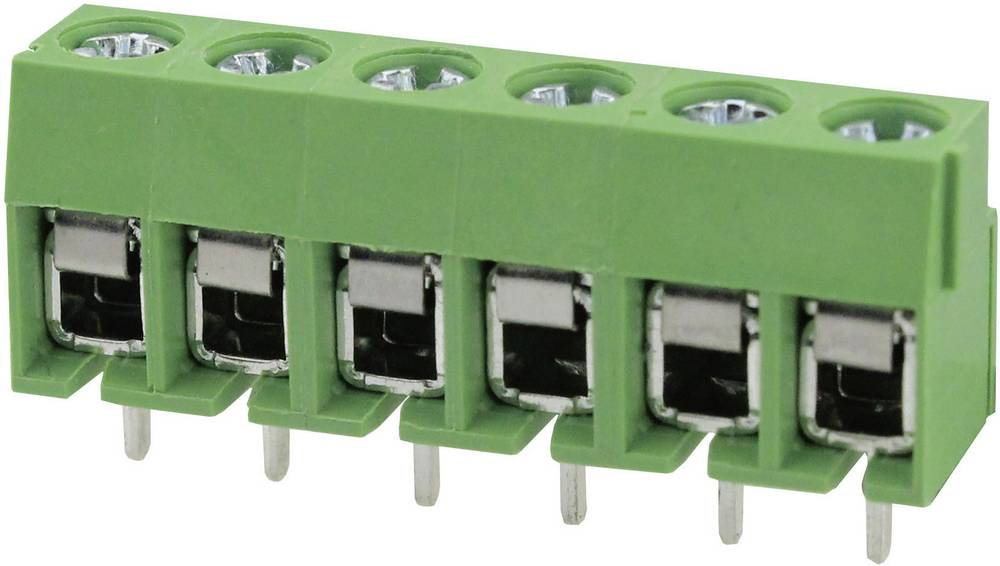 Skrueklemmeblok Degson DG126-5.0-02P-14-00AH 2 mm² Poltal 2 Grøn 1 stk