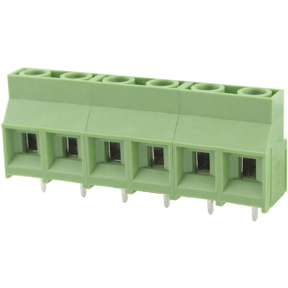 Skrueklemmeblok Degson DG950-9.5-03P-14-00AH 5.26 mm² Poltal 3 Grøn 1 stk