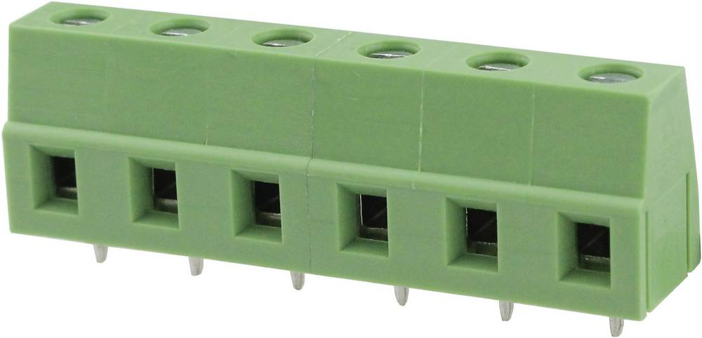 Skrueklemmeblok Degson DG128-7.5-03P-14-00AH 3.31 mm² Poltal 3 Grøn 1 stk