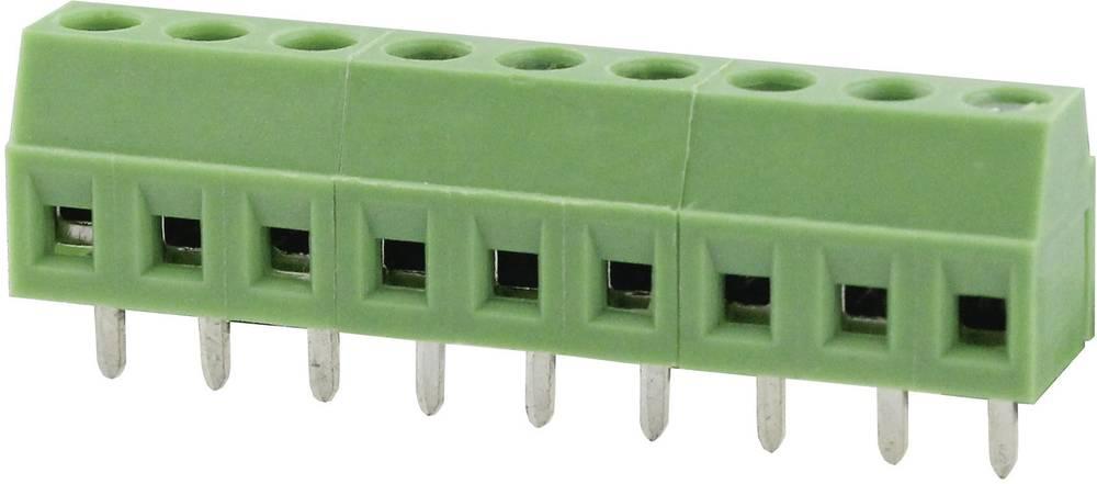 Skrueklemmeblok Degson DG381-3.81-03P-14-00AH 1.31 mm² Poltal 3 Grøn 1 stk