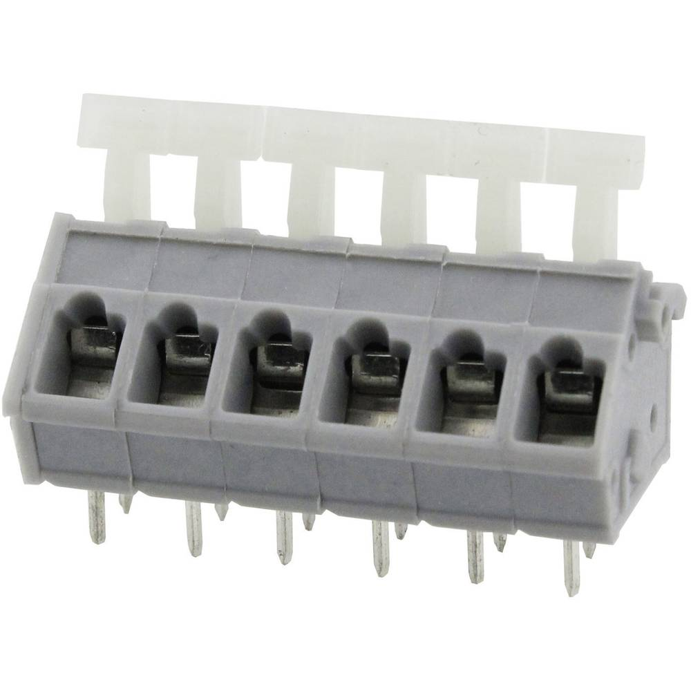 Fjederkraftsklemmeblok Degson DG243-5.0-05P-11-00AH 3.31 mm² Poltal 5 Grå 1 stk