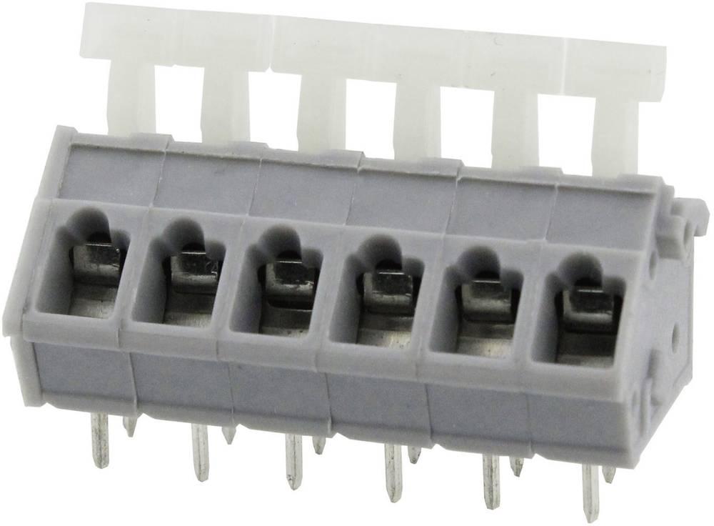 Fjederkraftsklemmeblok Degson DG243-5.0-10P-11-00AH 3.31 mm² Poltal 10 Grå 1 stk