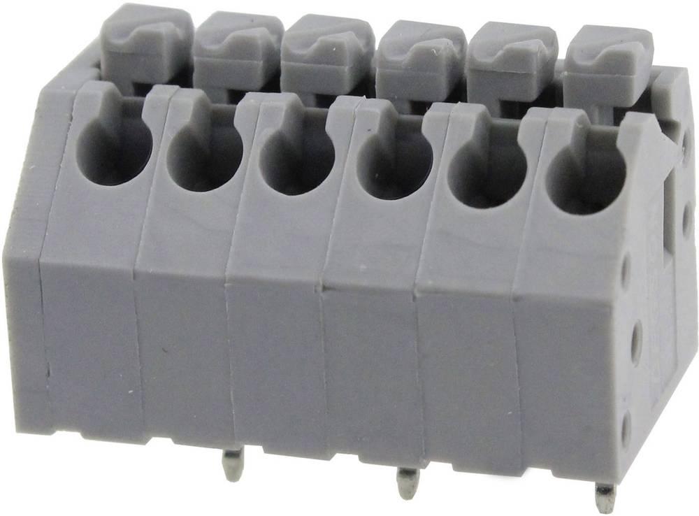 Fjederkraftsklemmeblok Degson DG250-3.5-05P-11-01AH 0.82 mm² Poltal 5 Grå 1 stk