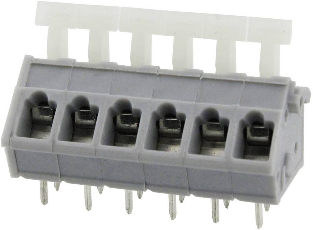 Fjederkraftsklemmeblok Degson DG243-5.0-03P-11-00AH 3.31 mm² Poltal 3 Grå 1 stk