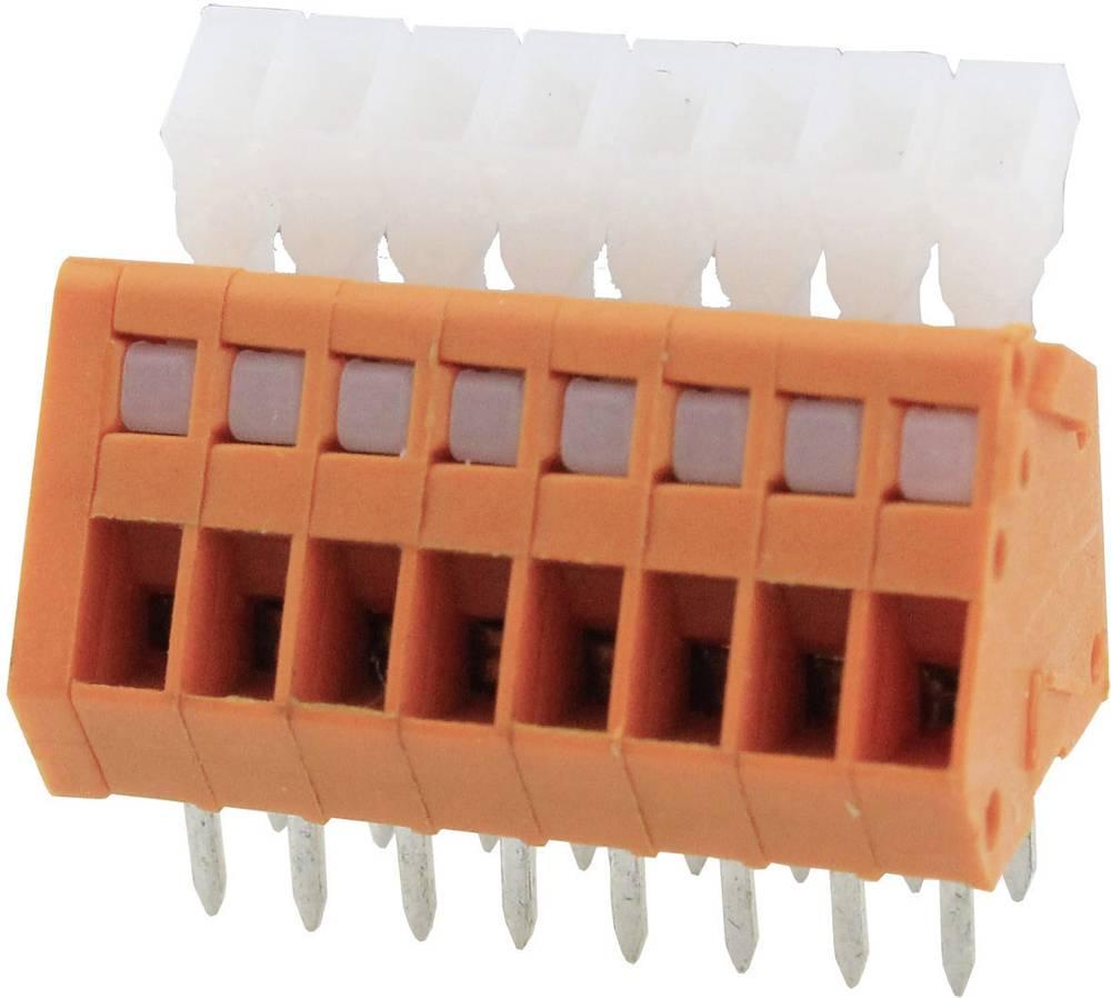 Fjederkraftsklemmeblok Degson DG240-2.54-04P-15-00AH 0.51 mm² Poltal 4 Orange 1 stk
