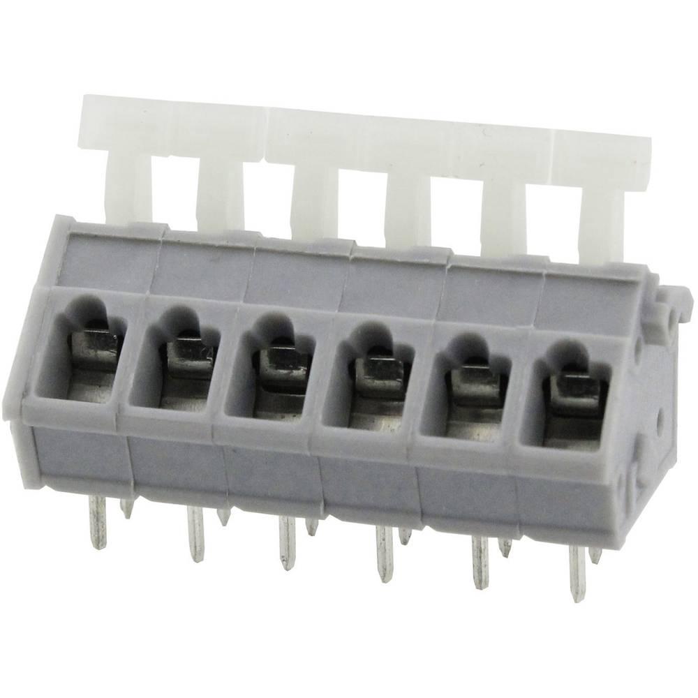 Fjederkraftsklemmeblok Degson DG243-5.0-04P-11-00AH 3.31 mm² Poltal 4 Grå 1 stk