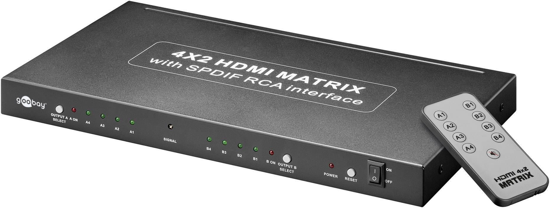 goobay avs  Goobay AVS 45 4 ports HDMI matrix splitter + remote control 3840 x ...