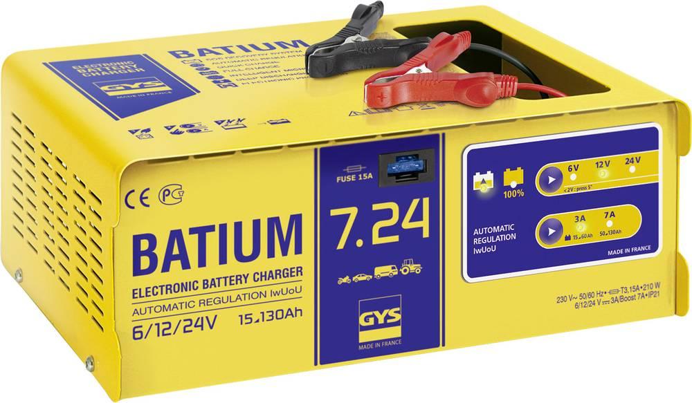 Automatisk oplader GYS BATIUM 7.24 024502 6 V, 12 V, 24 V 11 A 11 A