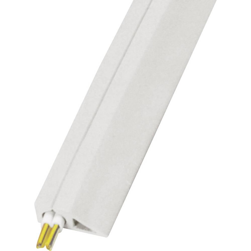 Talna zaščita za kable Snap Top, samolepilna (D x Š x V) 4500 x 27 x 10 mm siva Vulcascot vsebina: 1 kos