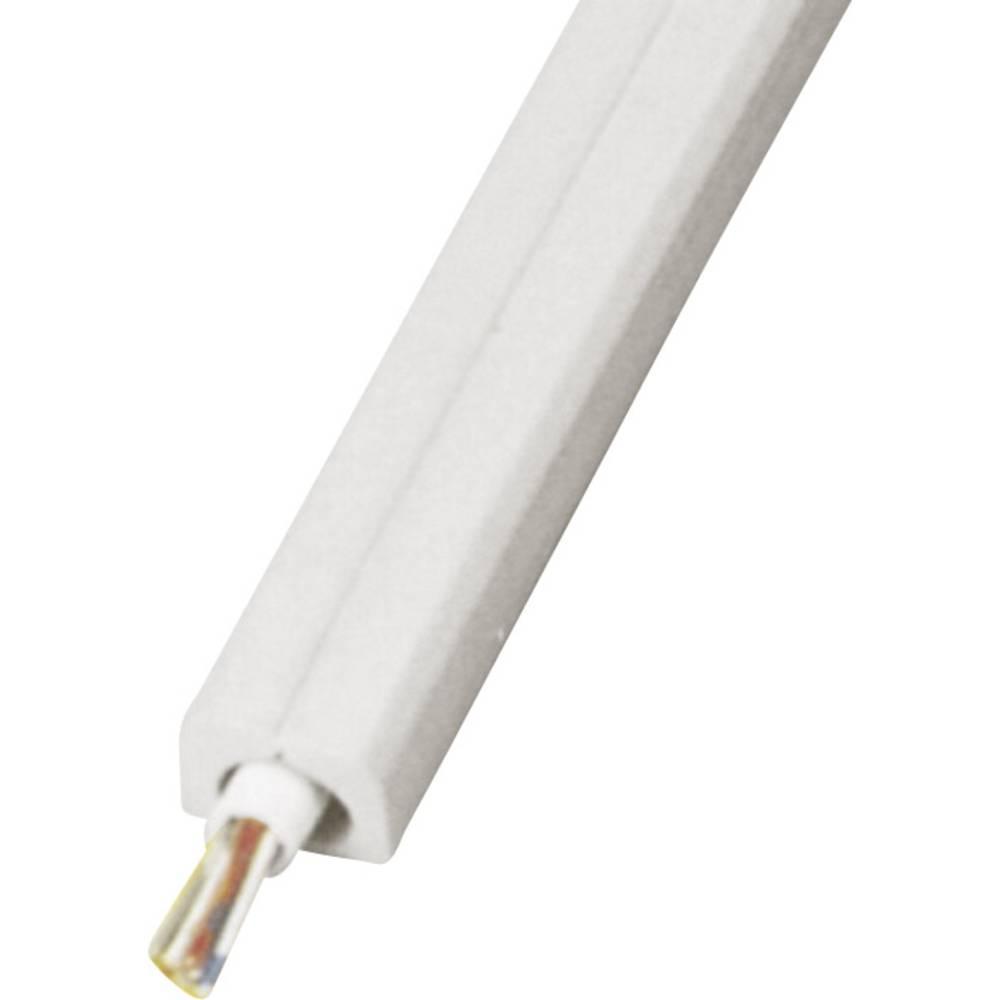 Talna zaščita za kable Snap Top, samolepilna (D x Š x V) 4500 x 14 x 10 mm siva Vulcascot vsebina: 1 kos
