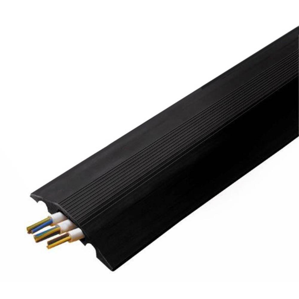 Talna zaščita za kable Cable Safe Serie RO (D x Š x V) 3000 x 84 x 14 mm črna Vulcascot vsebina: 1 kos