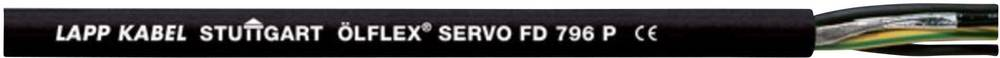 Kabel za krmiljenje servo motorjev ÖLFLEX® SERVO FD 796 P 4 G 16 mm + 2 x 1.5 mm črne barve LappKabel 0025324 100 m