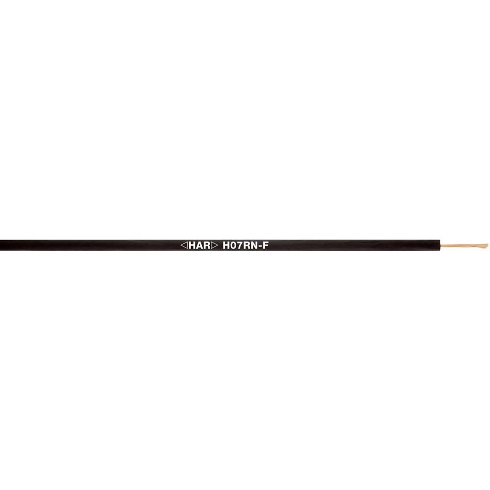 Priključni vodnik H07RN-F 1 x 6 mm črne barve LappKabel 4533003 100 m