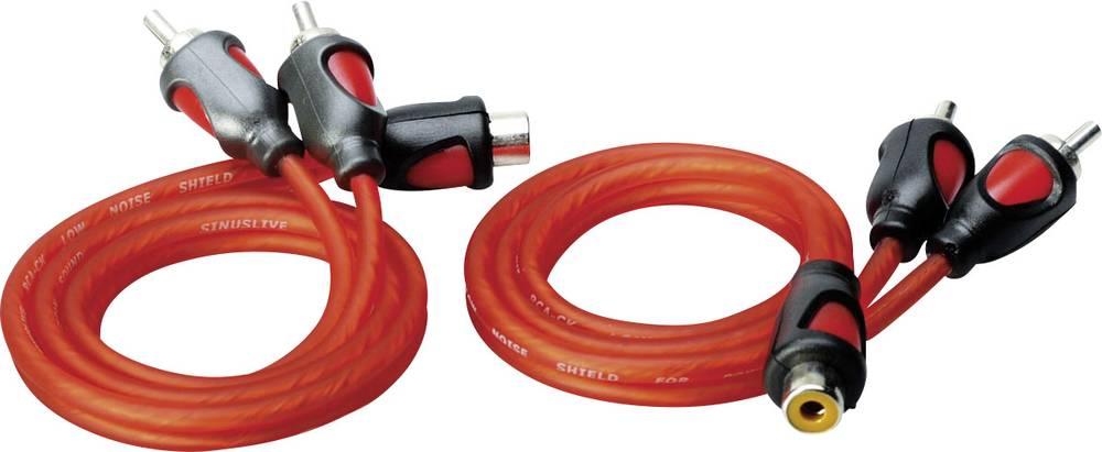 Y-phono-kabel Sinuslive YK-2 Rød 0.50 m