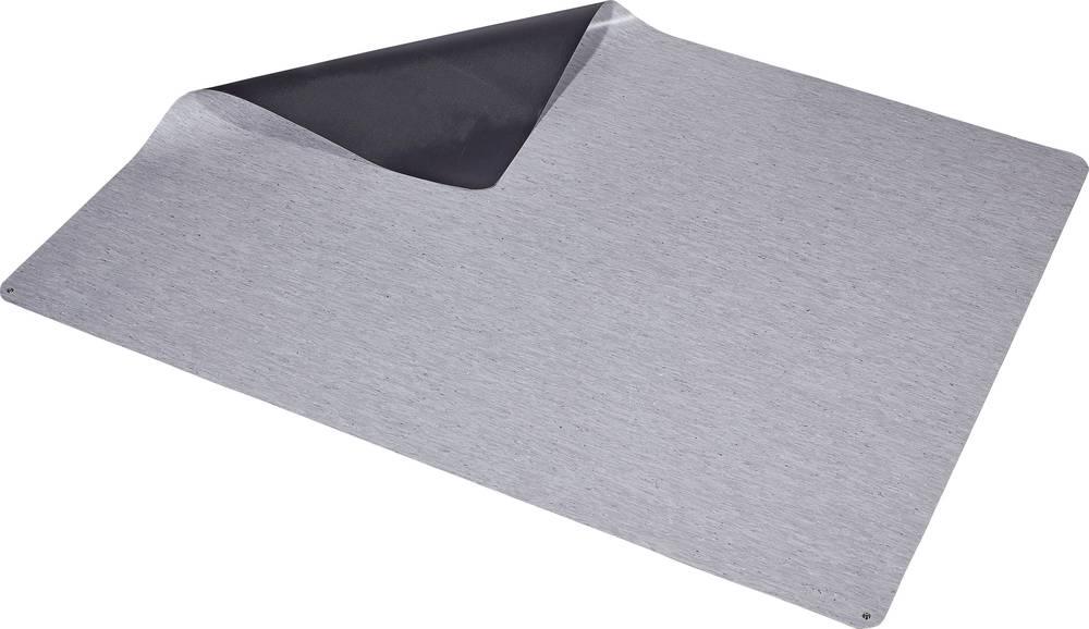 ESD talna podloga, sive barve (D x Š x V) 2000 x 1500 x 2 mm Wolfgang Warmbier 1250.47002.L vklj. ozemljitveni kabel
