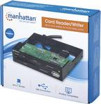 Manhattan Multi-Card Reader/Writer, Hi-Speed USB, 3.5