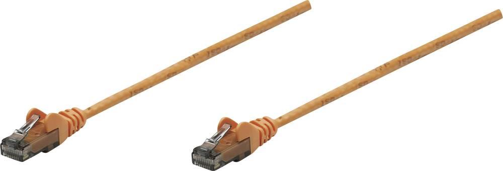 RJ45 omrežni priključni kabel CAT 5e F/UTP [1x RJ45-vtič - 1x RJ45-vtič] 10 m oranžen Intellinet