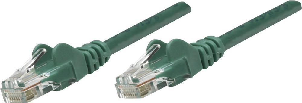RJ45 mrežni priključni kabel CAT 6 S/FTP [1x RJ45-utikač - 1x RJ45-utikač] 15 m zeleni, pozlaćeni kontakti, Intellinet