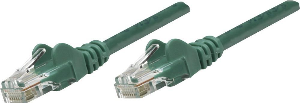 RJ45 omrežni priključni kabel CAT 6 S/FTP [1x RJ45-vtič - 1x RJ45-vtič] 0.50 m zelen pozlačeni zatiči Intell