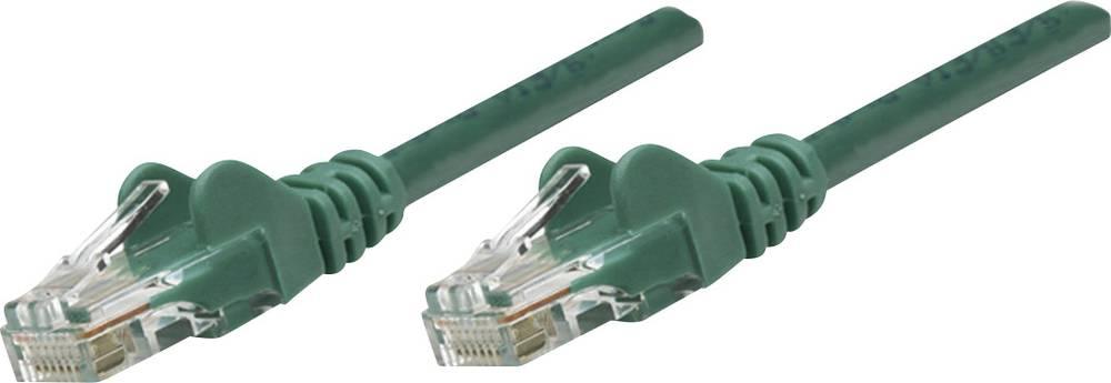 RJ45 omrežni priključni kabel CAT 5e U/UTP [1x RJ45-vtič - 1x RJ45-vtič] 2 m zelen Intellinet