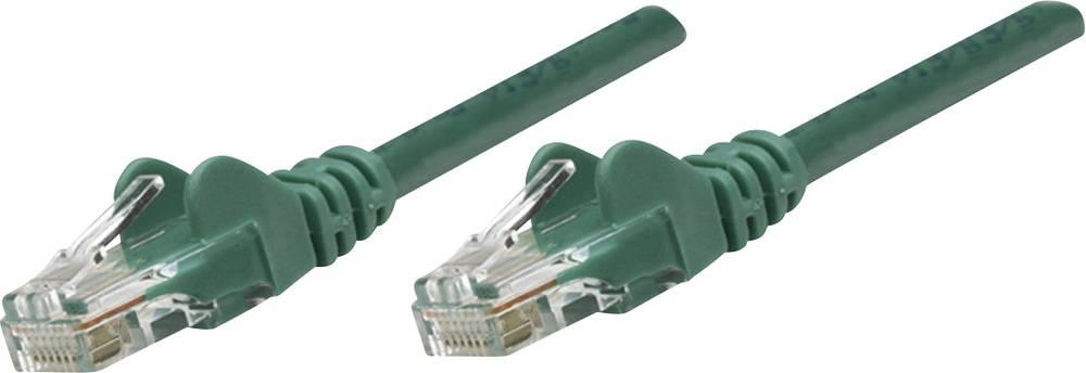 RJ45 mrežni priključni kabel CAT 5e U/UTP [1x RJ45-utikač - 1x RJ45-utikač] 3 m zeleni, Intellinet