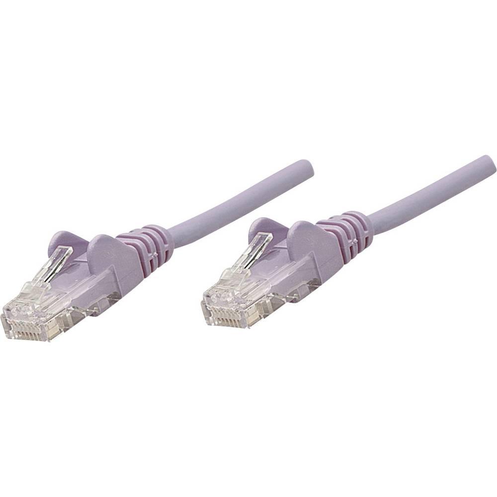 RJ45 mrežni priključni kabel CAT 5e U/UTP [1x RJ45-utikač - 1x RJ45-utikač] 5 m lila, Intellinet