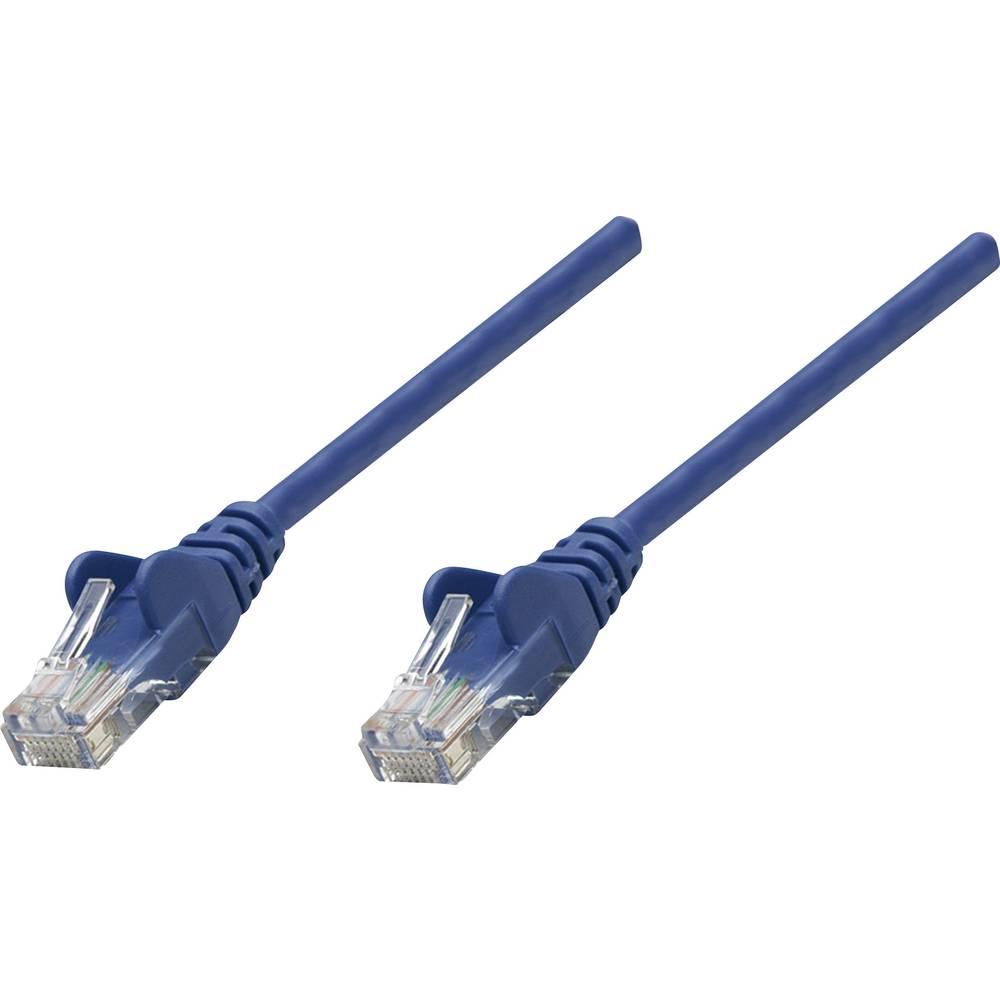 RJ45 omrežni priključni kabel CAT 5e U/UTP [1x RJ45-vtič - 1x RJ45-vtič] 7.50 m moder Intellinet
