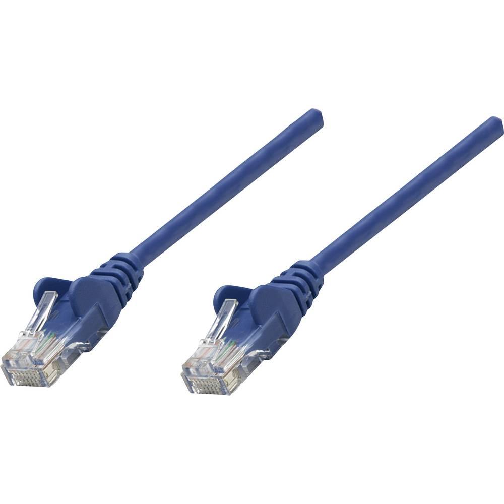 RJ45 omrežni priključni kabel CAT 6 U/UTP [1x RJ45-vtič - 1x RJ45-vtič] 15 m moder Intellinet