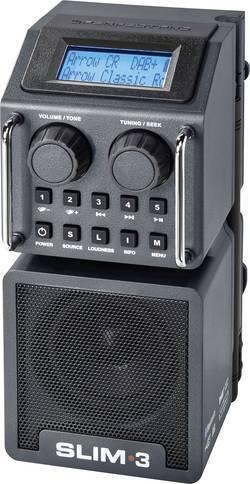 Gradbiščni radio DAB+ Radio PerfectPro Slim 3, odporen na udarce, škropljeni vodi, prahu, možnost polnjenja, črn