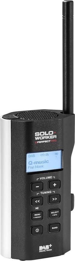 Radio DAB+ PerfectPro Soloworker, vgradni, polnilni, odporen na udarce, vodo in prah