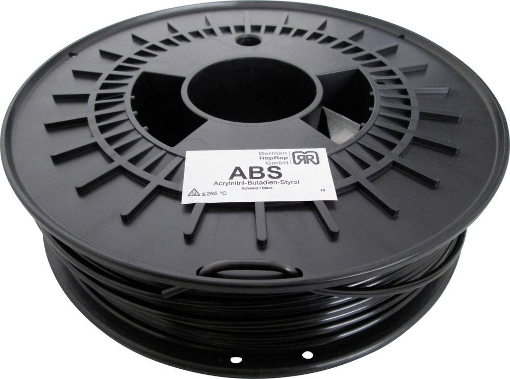 Filament German RepRap 100374 ABS plastika 3 mm crni