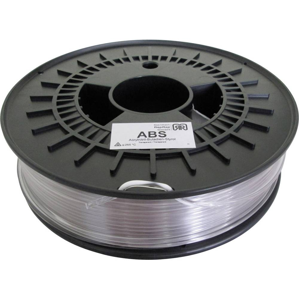 Filament German RepRap 100355 ABS plastika 3 mm proziran