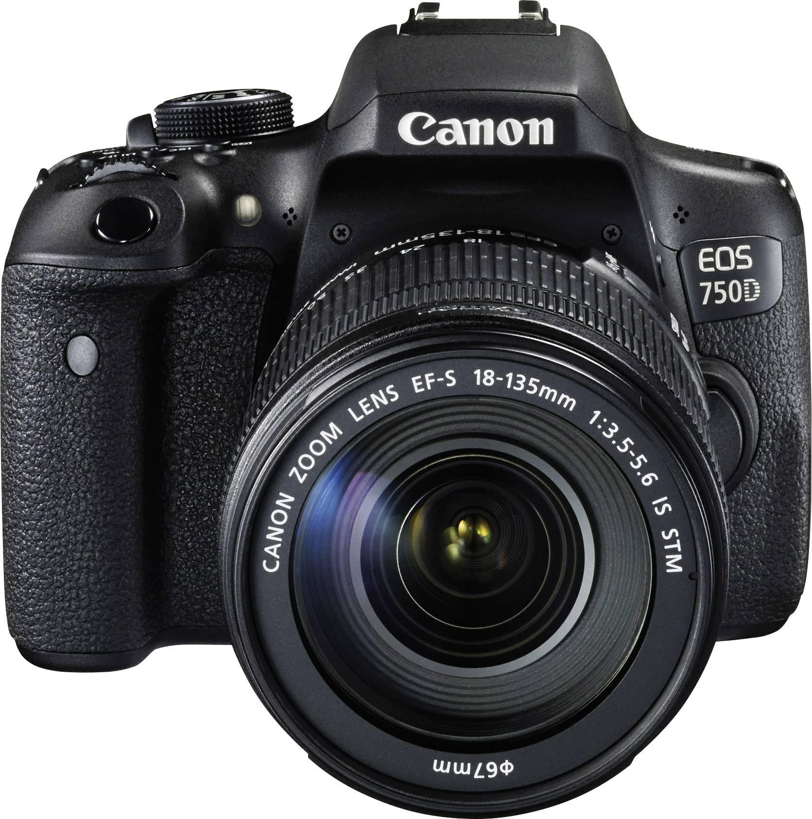 DSLR camera Canon EOS 750D EF-S 18-135 mm IS STM Black Hot