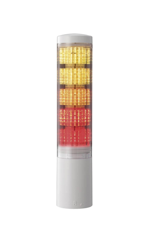 Signalni stolp Patlite LA6-3DWJUB-RYG rdeča, rumena, zelena, neprekinjena luč 24 V/DC 85 dB